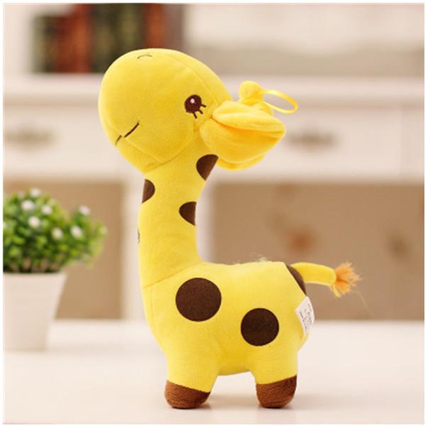 18cm 남여 귀여운 선물 봉제 기린 소프트 장난감 동물 친애하는 인형 아기 아이 아이 크리스마스 생일 해피 다채로운 Gifts5 색상 어린이 장난감
