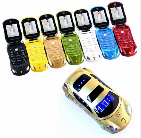 Goophone Desbloqueado Teléfono del coche de la moda para hombre regalo del estudiante tarjeta sim dual estilo de coche metal acero celular teléfono celular superior quanlity X83