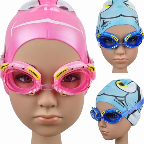 Authentique bande dessinée professionnelle garçons et filles lunettes de natation formation lunettes de natation fabricants en gros lunettes de natation Rose bleu