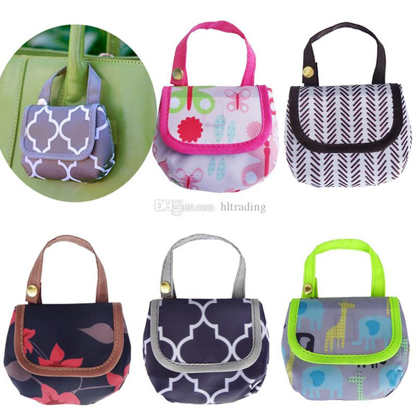 Baby Diaper Bags Portable Nappy Pacifier Snacks pocket money Storage Bag print Diaper Bag Infant stroller bags C4408