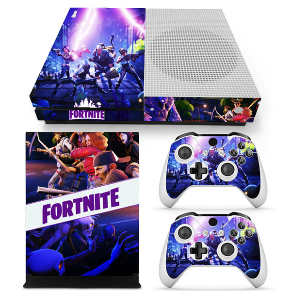 Game Fortnite Skin Sticker Decal For Microsoft Xbox One Slim Console and 2 Controllers