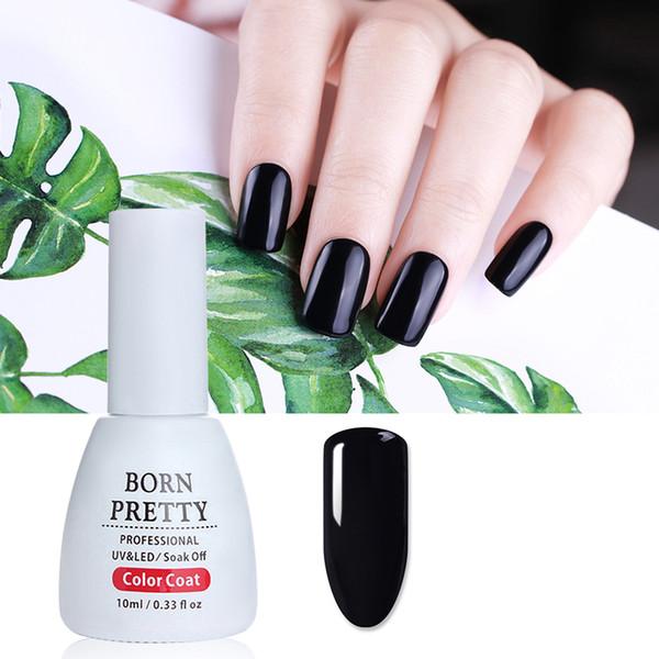 BORN PRETTY 10ml French Super Pure Черный гель-лак для ногтей Лак замочить от маникюра Nail Art Гель-лак для ногтей