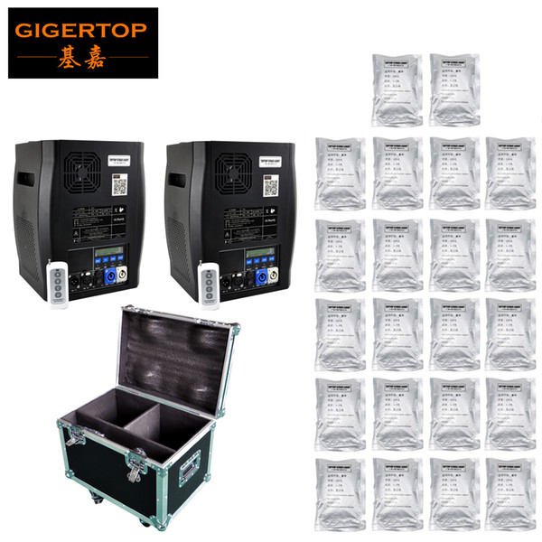 2pcs With Flightcase And 22 Bags Powder 600W Party wedding stage Cold Spark Fireworks Machine DMX And Remote Control
