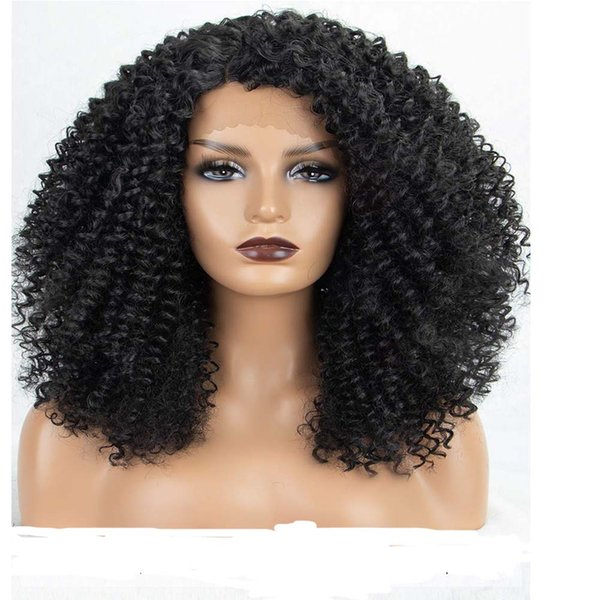Afro short Curly Wigs for black women 100% Brazilian virgin Human Hair wigs with baby hair