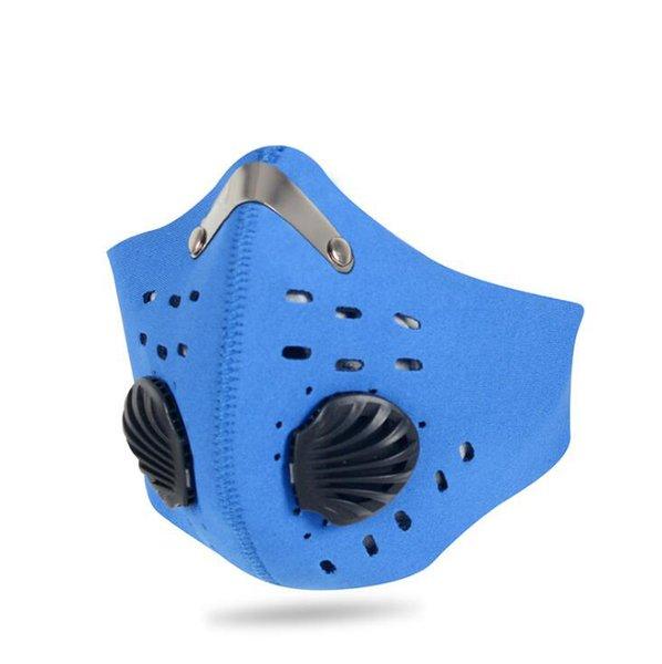 Máscara azul
