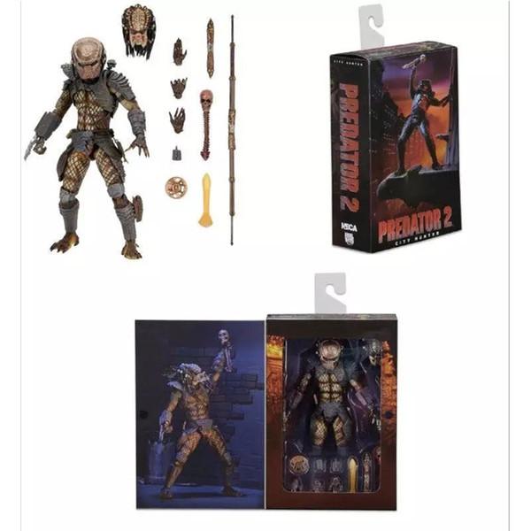 Hot Movie City Hunter NECA Cool Aliens the Elder Predator 2 Alien PVC Giocattoli da collezione
