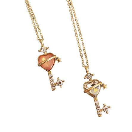shippng libre 10 unids / lote accesorios de joyería de moda marinero luna corazón clave colgante collares