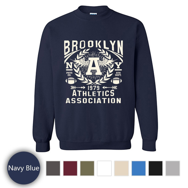 Jersey de manga larga estampado súper frío, moda Brooklyn Athletics Association Sportshirt