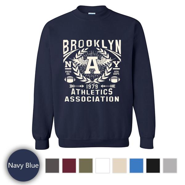 Супер Прохладный Печатных Пуловер С Длинным Рукавом, Мода Бруклин Атлетика Ассоциация Sportshirt