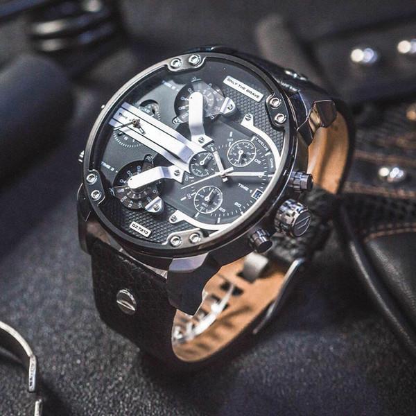 Relogio militar brand men port watch quartz watche big dial die el watche military clock dz montre de luxe dz7313 dz7333