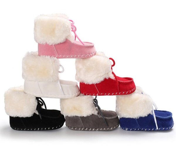 2019 Hot 0-6mos 12-18mos 6-12mos White Red Black Blue Pink Gray Sale Top Fashion Unisex Winter Fabric Cotton Girl First Walker 0-18mos