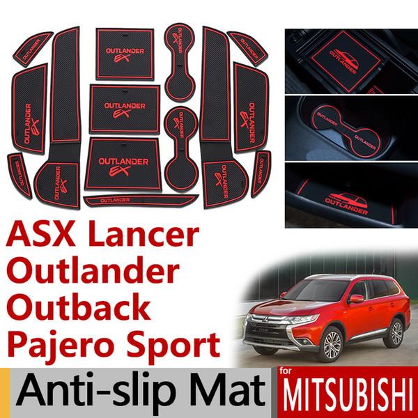Tapis de protection anti-dérapant pour porte en caoutchouc pour Mitsubishi ASX Lancer EVO X Outlander Pajero Sport Eclipse Cross Accessoires autocollants