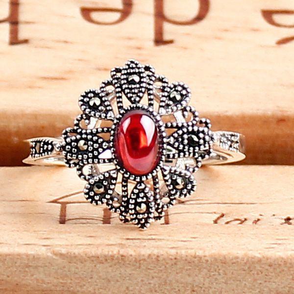 2018 Hot Sale Anel Masculino Wedding Rings Anel Wholesale S925 Pure Ring Thai Water Mark Frigidite Corundum Female New Specials