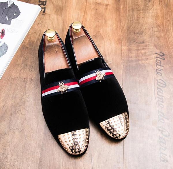 mens designer velvet loafers