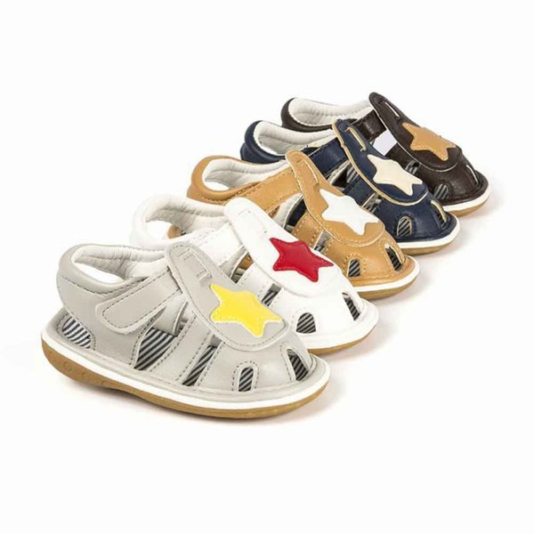 Toddle Bebek Kız White Star Sandal Ayakkabı PU Bebek Kız Bebek Boy Ayakkabı Yumuşak Alt Beşik Anti-slip Yaz 0-12M