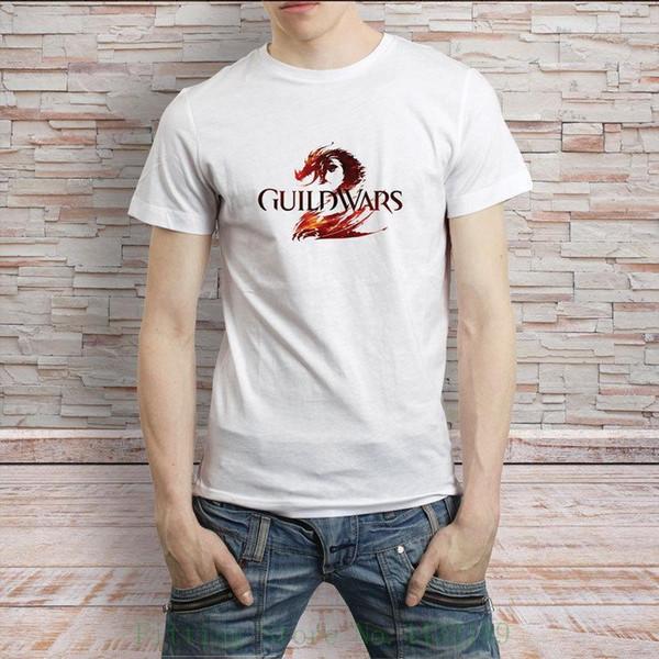 Guild Wars Ünlü Video Oyunu T Gömlek erkek Tee Yeni Varış Erkek Tees Casual Boy T gömlek İndirimler Tops