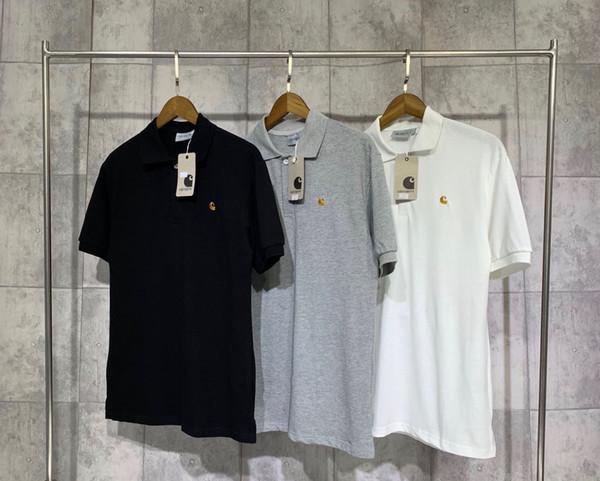 haute qualité marque polo shirt tendance broderie classique polos chemises US marée marque t-shirt été mode décontractée mens manches courtes taille M-XXL