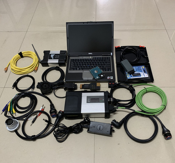 3in1 VAS 5054A + para BMW wifi Icom Next + MB Star C5 SD C5 con HDD de 2TB y portátil usado d630 para herramientas de diagnóstico automático