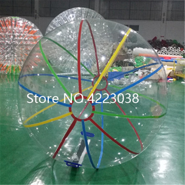 Free Shipping 2.0m Dia Inflatable Water Walking Ball Human Hamster Ball Giant Inflatable Water Zorb Ball