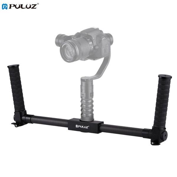 PULUZ Leichte Kohlefasermetallstabilisator Dual Handheld Grip Bracket Gimbal Stabilizer für DSLR-Kamerahalterung