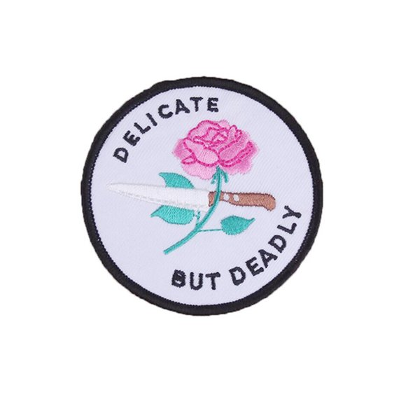 a rose Badges, down patches, clothes, jeans,cloth stickers, embroidery, applique, holes, patterns, sewing allowance SewOnEmbroideredPatch