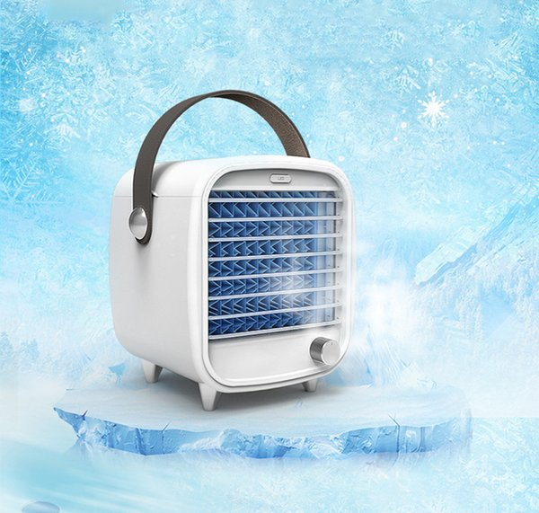 top popular Evaporative coolers Portable air cooler Easy Way to Cool Any Space Air Conditioner Fan Device Home Office Desk With 2 Water Tanks 2021