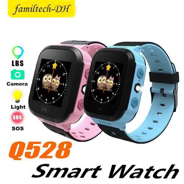 Q528 GPS Children Smart Watch Anti-Lost Flashlight Baby Smart Wristwatch SOS Call Location Device Tracker Kid Safe vs Q750 Q100 Q42 DZ09 U8