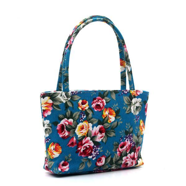 Cheap Cartoon Owl flower Printed Shoulder Bag Women Shopping Bag Canvas Beach Bag Ladies Messenger Handbag