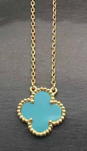 золото + синее ожерелье