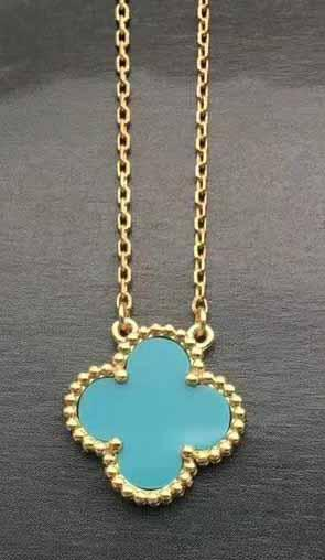 gold+blue necklace