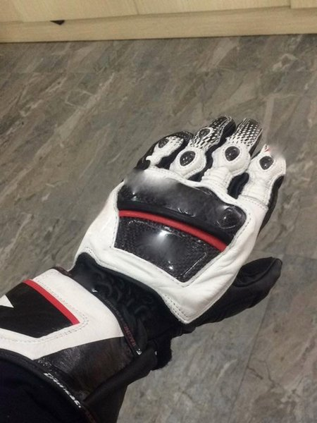 top popular Druids ST Leather Glove motorcycle motorbike gloves 3 color Size M L XL 2019