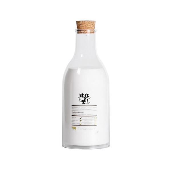 BRELONG milk bottle night light rechargeable LED bedside lamp child girl bedroom living room wedding decoration (warm white)