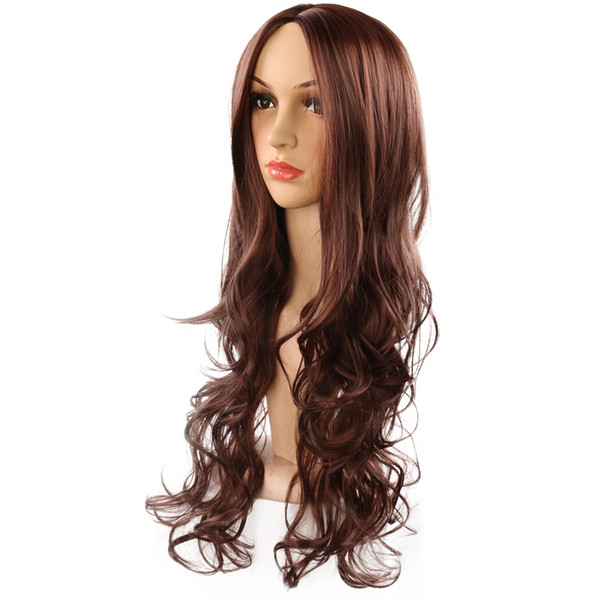 2019 New Cross-Border Long Hair Chemical Fiber Hair Cover Wave Curly European Style Fashion for European and American Wig Explosion Women