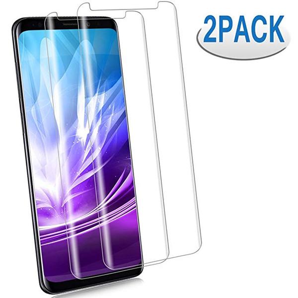 2 PACK VOLLABDECKUNG Weiche, klare PET-Displayschutzfolie für Samsung Galaxy Note 8 9 Note8 Note9 S9 S8 S10 Lite Plus