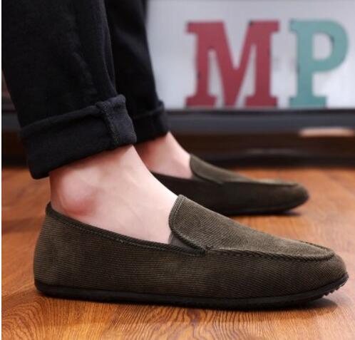 2019172626 Zapatos de lona para hombre, primavera, un pie, guisantes, zapatos, lino, versión coreana de respirables, zapatos perezosos ocasionales