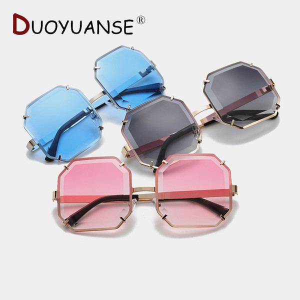 wholesale Diamond Cut Edge Polarized Sunglasses Woman Gradient Ocean Color Large Frame 2019 New Fashion Sun Glasses 3052