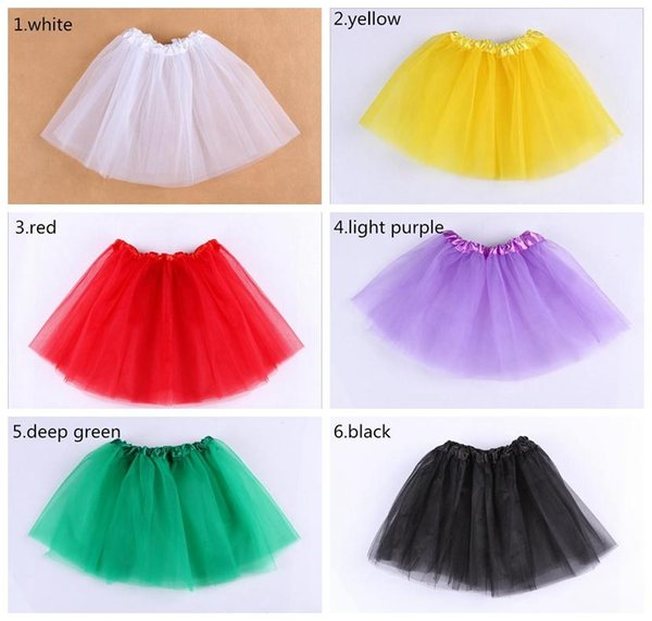 Baby Girls Tutu Skirt Princess Dance Party Tulle Skirt Fluffy Chiffon Skirt Girls Ballet Dance Wear Party Costume Baby Clothes Free Shipping