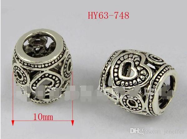 3 pcs Hot New sterling silver oco padrão de flor de Transferência do grânulo pulseira DIY contas colar fit 925 colar de prata DIY acessórios jóias