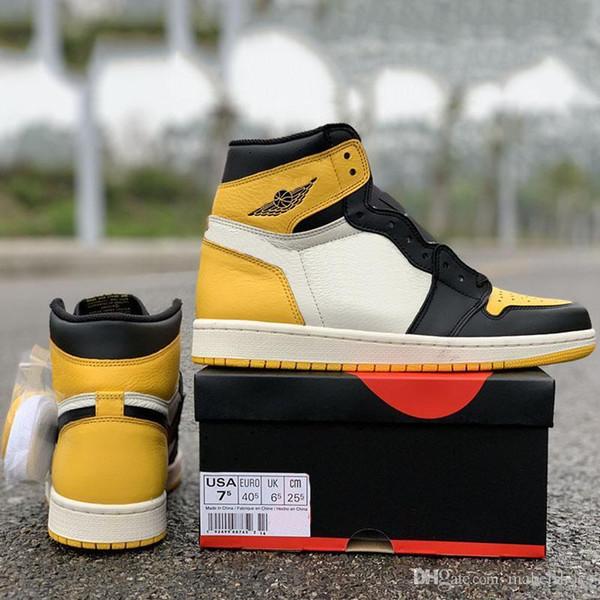 Желтый обновление Toe мужская баскетбольная обувь 1s бренд дизайнер кроссовки 2019 мода спортивные кроссовки с высоким качеством