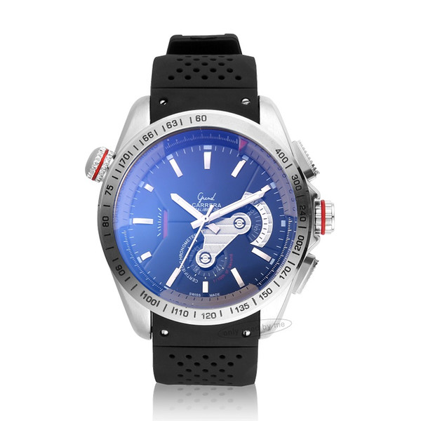 automatic mechanical movement mens watch self wind calibre 36 rs blue dial stainless steel case clock triangle dress male wristwatches men, Slivery;brown