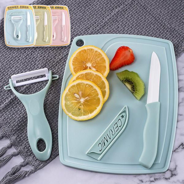 Set di tre pezzi di coltelli in ceramica Set di coltelli da frutta Set di coltelli per tagliare i coltelli da cucina Accessori da cucina