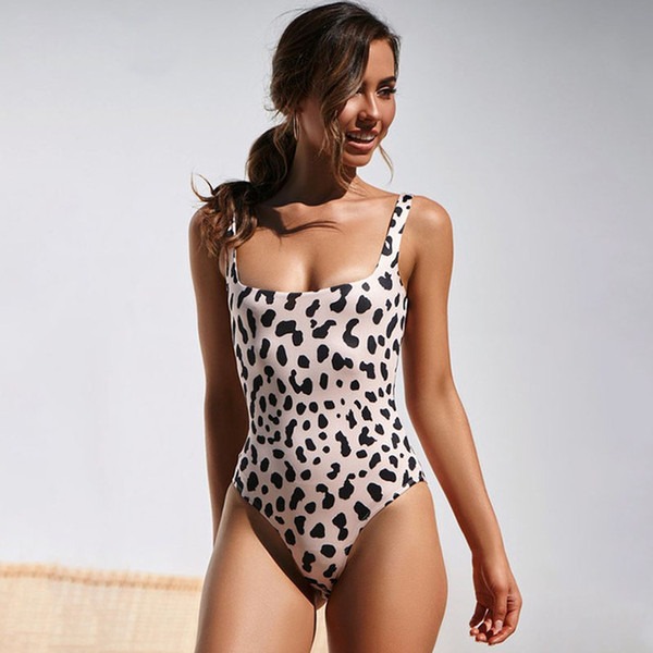 c1cbf1e8dec8b Sexy One Piece Swimsuit Women Bodysuit Swimwear New Leopard Print Monokini  Push Up Bathing Suits Beach