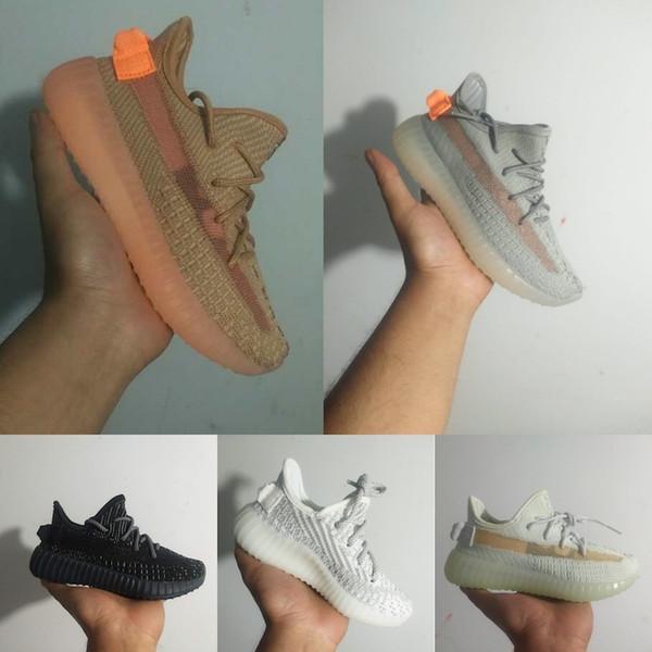 Adidas Yeezy 350 V2 Statik 2.0 Çocuk Çocuk Gençlik Krem Tüm Beyaz Bebek Getirdi Beluga Siyah toddlers Kany West V2 Koşu Ayakkabıları Spor Sneaker