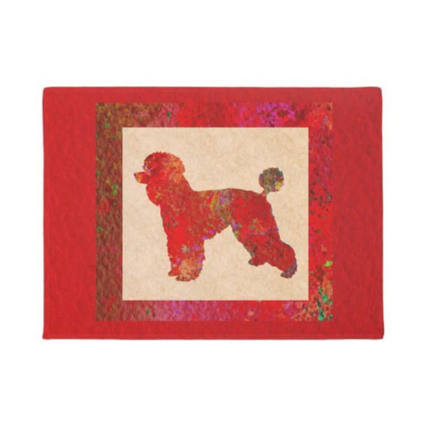 Red Poodle Doormat Home Decoration Entry Non-slip Door Mat Rubber Washable Floor mat