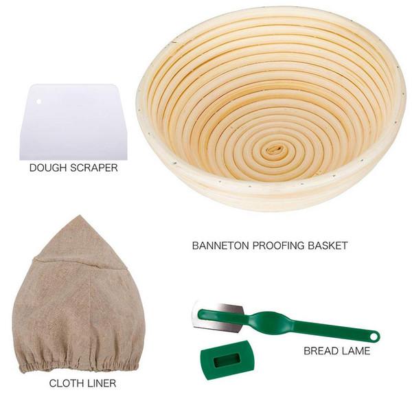 Doğal Endonezya Rattan Ekmek Fermantasyon Basket Depolama Basket Takımı Pişirme Araçları Pişirme Aksesuarları Ekmek Araçları Organizatör