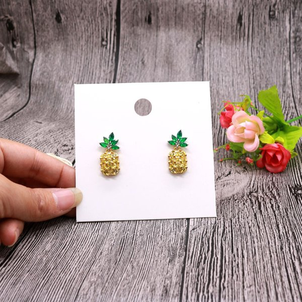 top popular 100pcs lot 8x8cm Pure White Card Drop Earrings Cardbord Ear Stud Display Cards Hanging Tags Jewelry Gift Card 2021