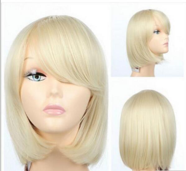 Бесплатная доставка короткий косплей платиновый блондинка парик королева волос нет кружева фронт сделал парики