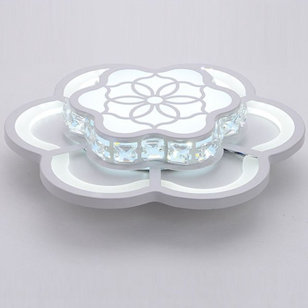 Modern Crystal LED Bedroom Corridor Ceiling Light White Acrylic Flower Balcony Ceiling Lamp Porch Hallway Ceiling Lamp