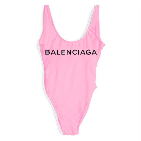 Gut verkaufen Neue Ankunft Luxus Designer brief Badeanzug Backless Druck Dreieck Einteilige Badebekleidung Weste Sexy Bikini