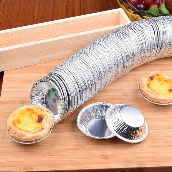 250 Pcs Disposable Aluminum Foil Cups Baking Bake Muffin Cupcake Tin Mold Round Egg Tart Tins Mold Mould